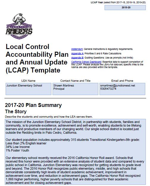 Approved LCAP 2017-2020