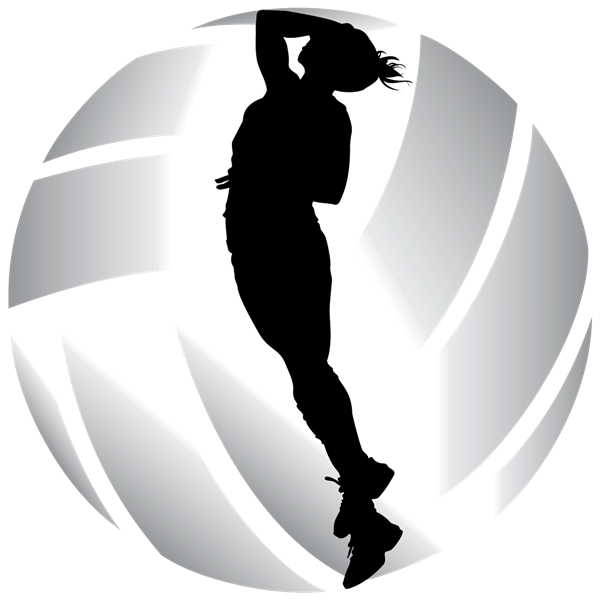 "Volleyball ""spike"" clipart."