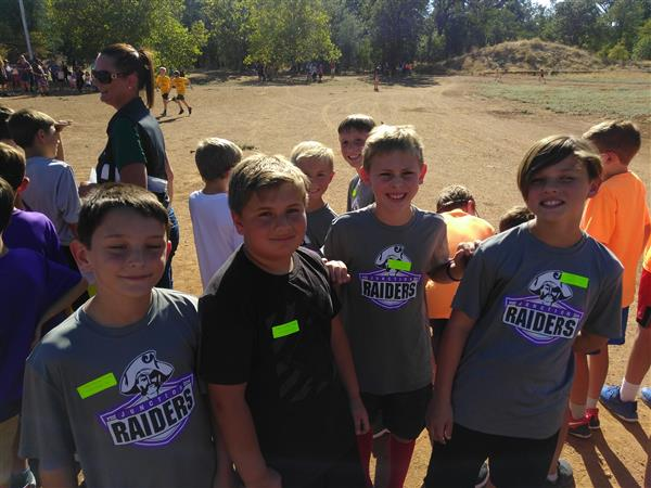 4th grade boys in cross-country club.