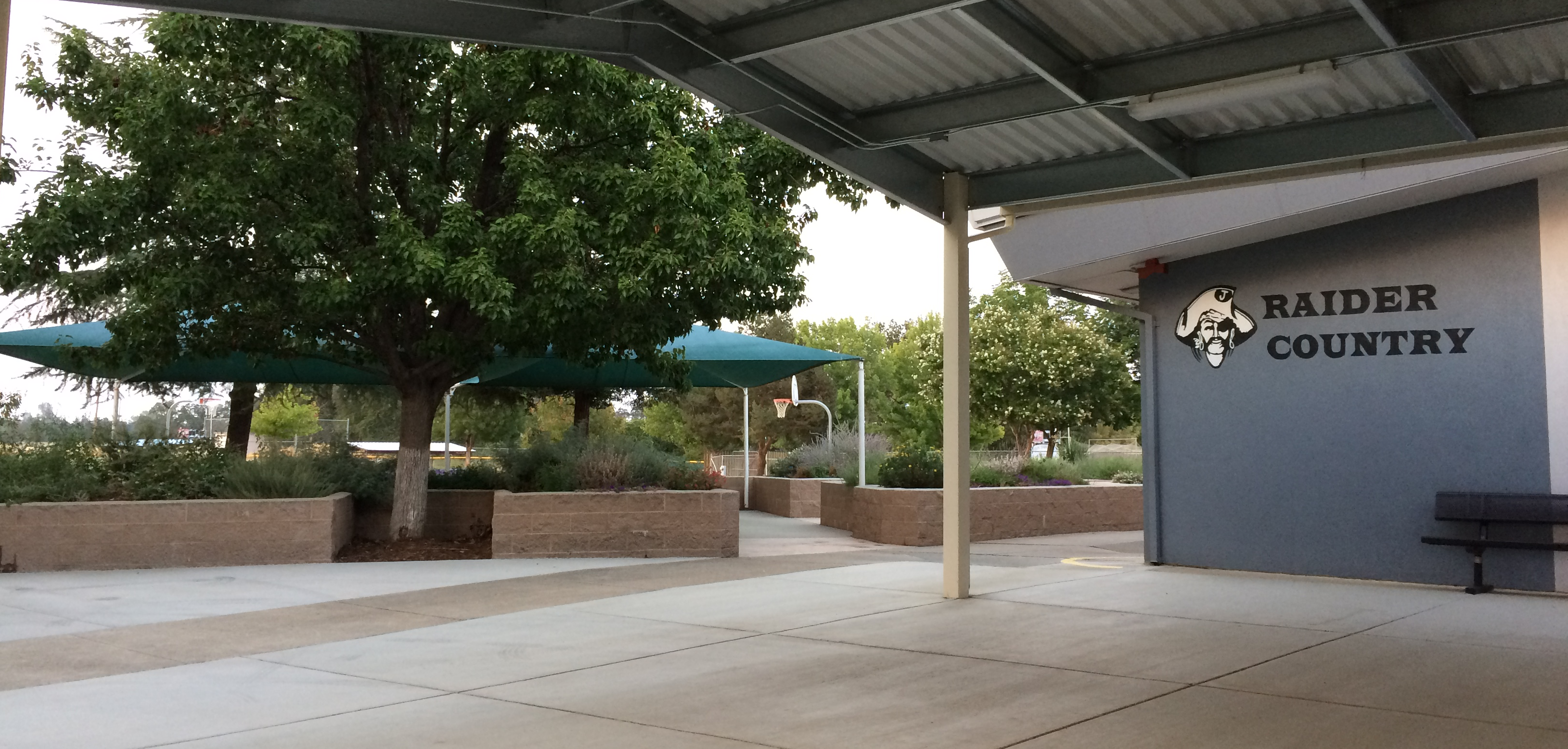 the Quad area of Junction Middle School.